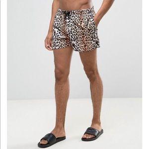ASOS Animal Print Swim Shorts
